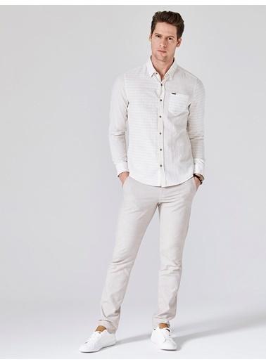 Xint Uzun Kollu Gömlek Bej